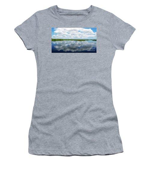 Skyscape Reflections Blue Cypress Marsh Near Vero Beach Florida C6 Women's T-Shirt