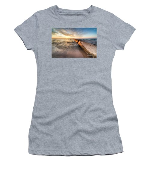 Sunset From The Beach In Frankfort Women's T-Shirt