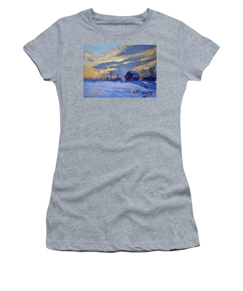 Sunset Over The Farm Women's T-Shirt