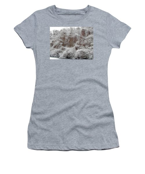 Women's T-Shirt featuring the photograph The Forest Hush by Lynda Lehmann