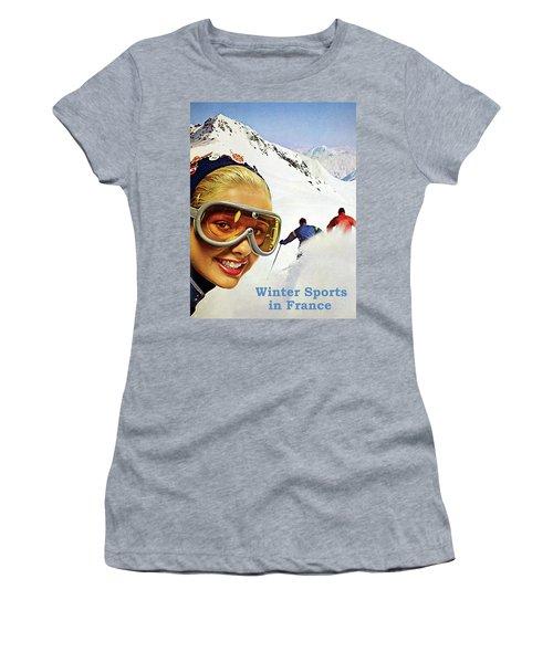 Winter Sports In France Women's T-Shirt