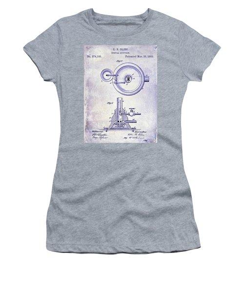 1883 Dental Spittoon Patent Blueprint Women's T-Shirt