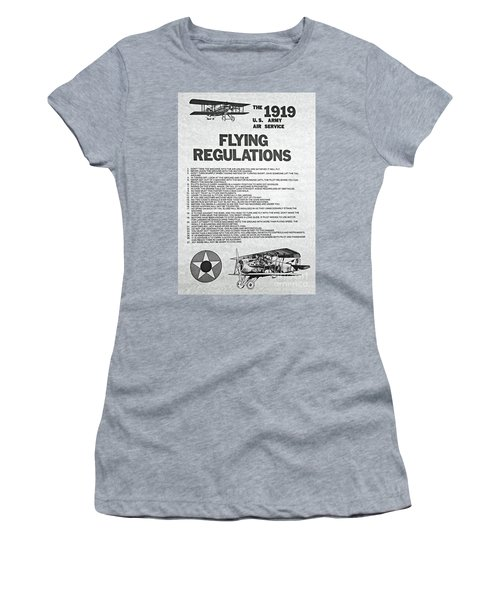 1919 Flying Regulations Poster Women's T-Shirt