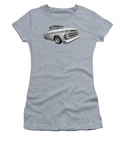 1965 Chevy C10 Truck In Black And White Women's T-Shirt
