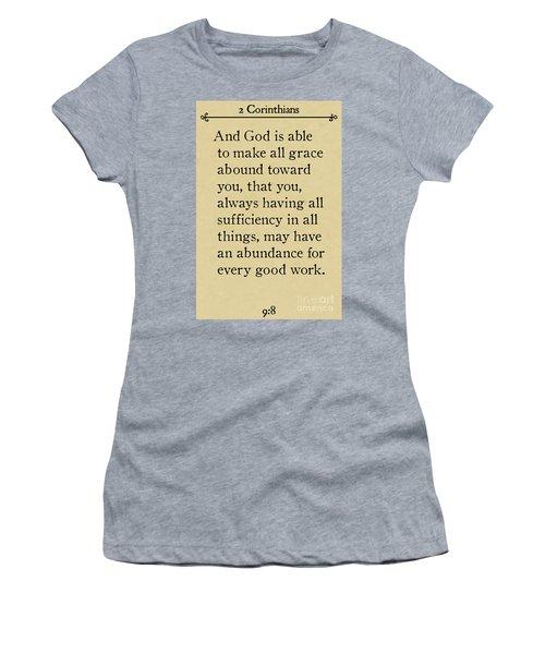 2 Corinthians 9 8-bible Verse Wall Art Collection Women's T-Shirt