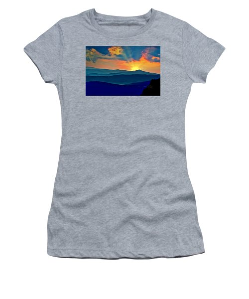 Blue Ridge Mountains Sunset Women's T-Shirt