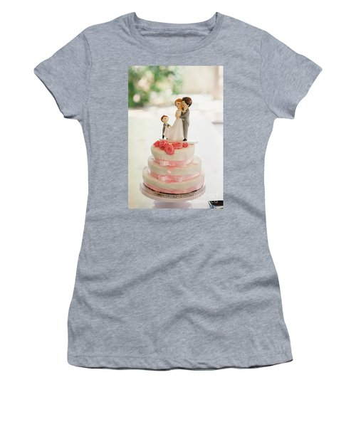 Desserts And Wedding Cake With Very Sweet Cupcakes At An Event. Women's T-Shirt