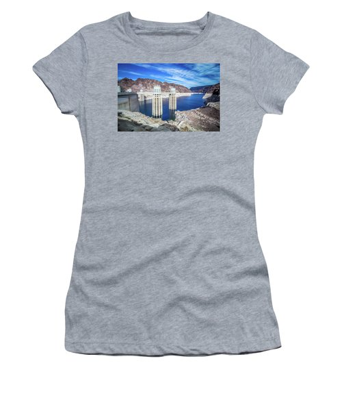 Women's T-Shirt featuring the photograph Wandering Around Hoover Dam On Lake Mead In Nevada And Arizona by Alex Grichenko