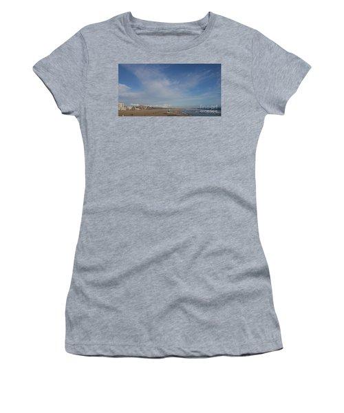 Santa Monica Beach, Santa Monica, California Women's T-Shirt