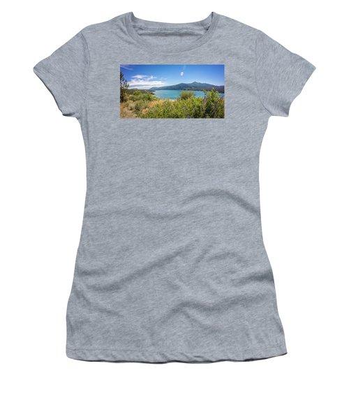 Women's T-Shirt featuring the photograph Nature Scenics Around Spokane River Washington by Alex Grichenko
