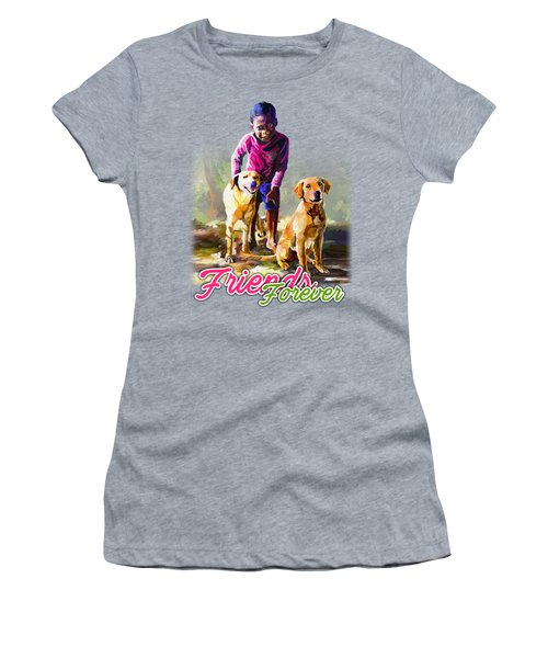 Boy And His Dogs Women's T-Shirt
