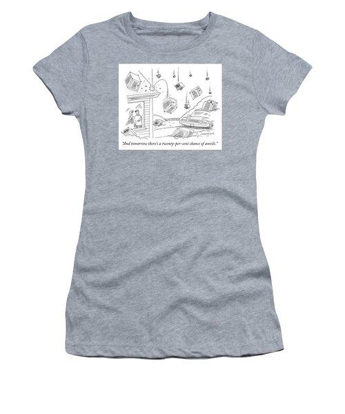 A Couple Watches As It Rains Safes Women's T-Shirt