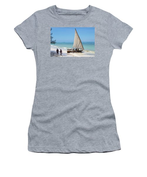 A Dhow In Zanzibar Women's T-Shirt