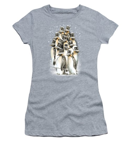 A Gathering In The Snow Women's T-Shirt