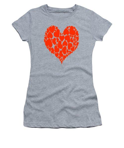A Heart Full Of Love Red Pattern  Women's T-Shirt