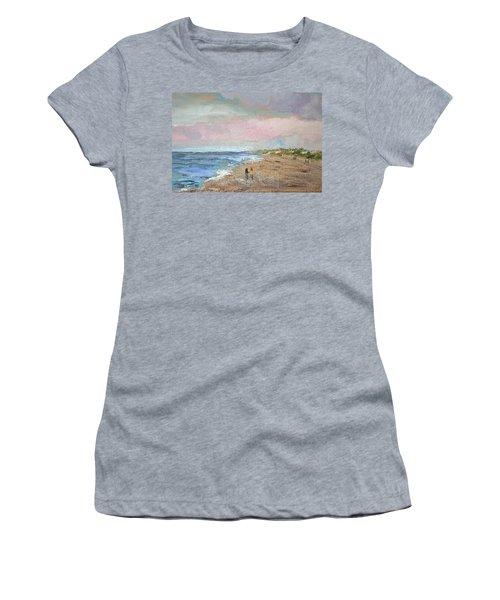 A Walk On The Beach Women's T-Shirt