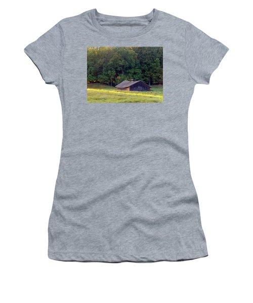 Abandoned Hay Barn At Sunrise Women's T-Shirt