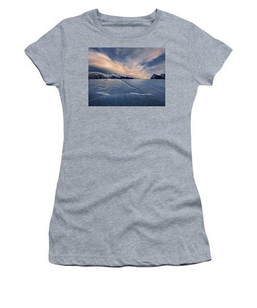 Abraham Lake Ice Wall Women's T-Shirt