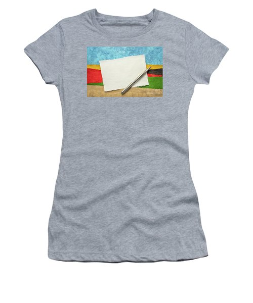 Abstract Landscape With A Blank Note Women's T-Shirt