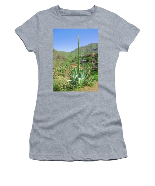 Agave With Flower Spear In Masca Women's T-Shirt