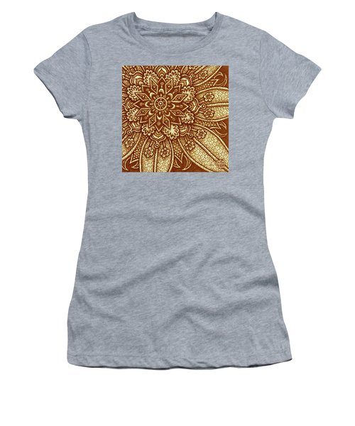 Women's T-Shirt featuring the painting Alien Bloom 27 by Amy E Fraser