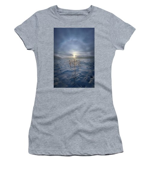 Women's T-Shirt featuring the photograph All Is Blue For A Time by Phil Koch