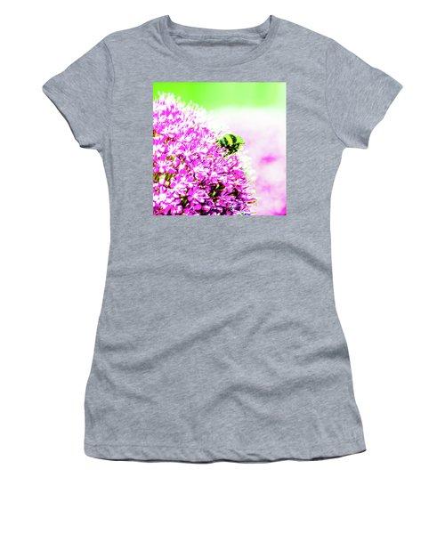Allium With Bee 3 Women's T-Shirt
