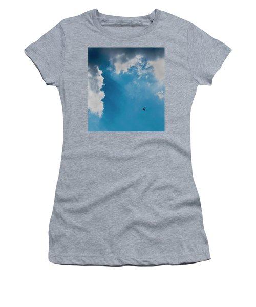 Colours. Blue. Alone. Women's T-Shirt
