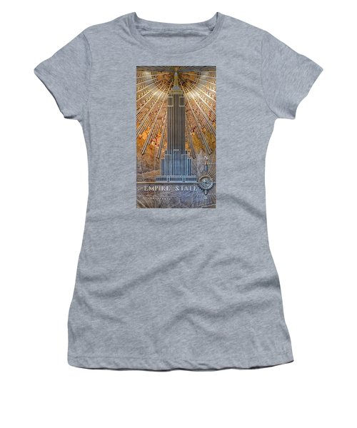 Aluminum Relief Inside The Empire State Building - New York Women's T-Shirt