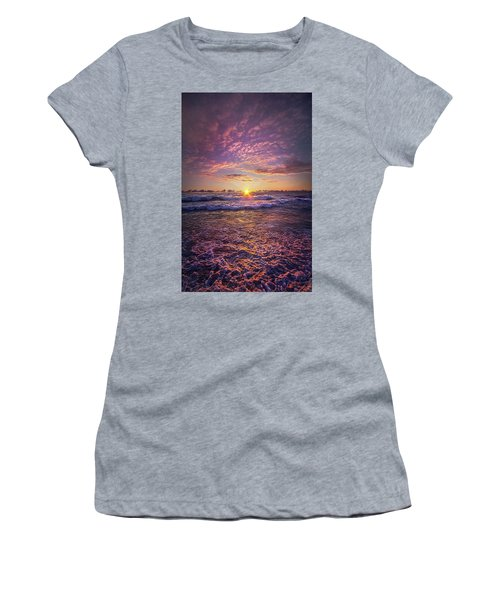 Women's T-Shirt featuring the photograph And Then Begin Again by Phil Koch