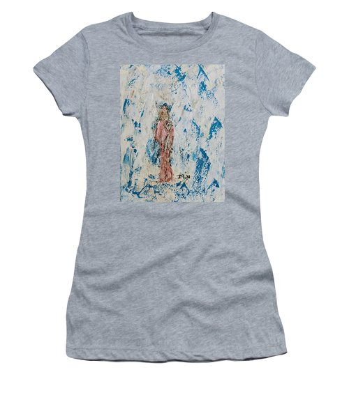 Angel With Her Pet Goat Women's T-Shirt
