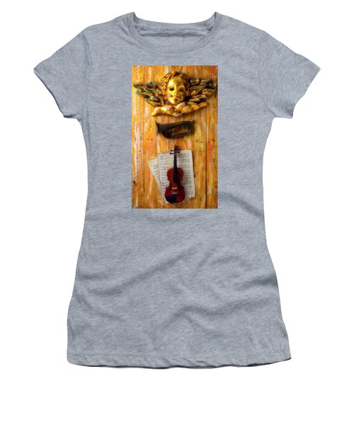 Angel With Horn And Violin Women's T-Shirt