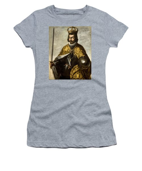 Anonymous / 'san Fernando', Xvii Century, Oil On Canvas, 1.15 X 0.92 M. Fernando IIi De Castilla. Women's T-Shirt