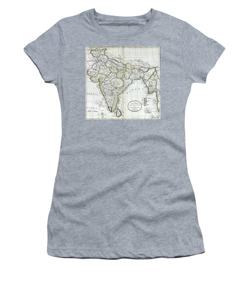 Antique Map Of India   Women's T-Shirt