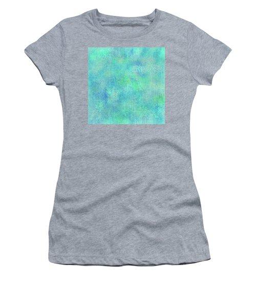 Aqua Batik Print Coordinate Women's T-Shirt