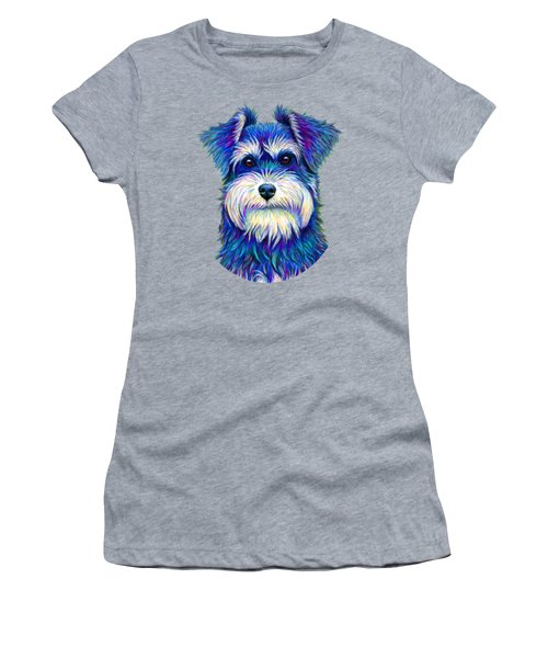 Colorful Miniature Schnauzer Dog Women's T-Shirt