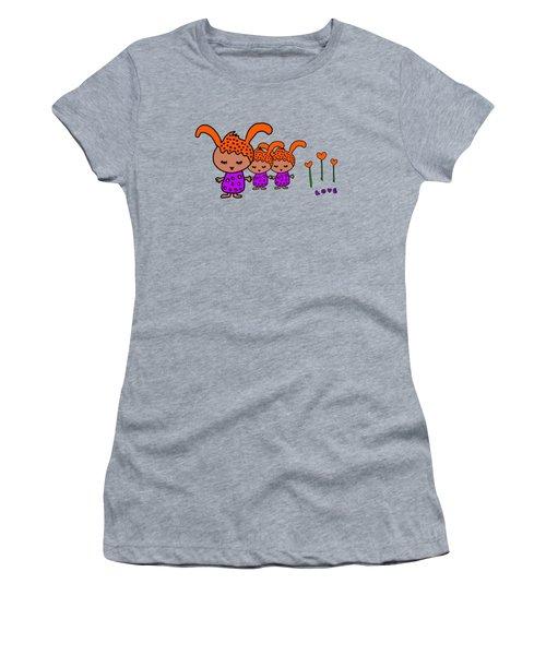Cute Alien Family From The Love Planet Women's T-Shirt