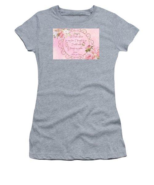 If I Had A Flower Love Artwork Women's T-Shirt