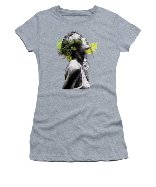 Burnt By The Sun - Street Art Woman Portrait With Mandalas Women's T-Shirt