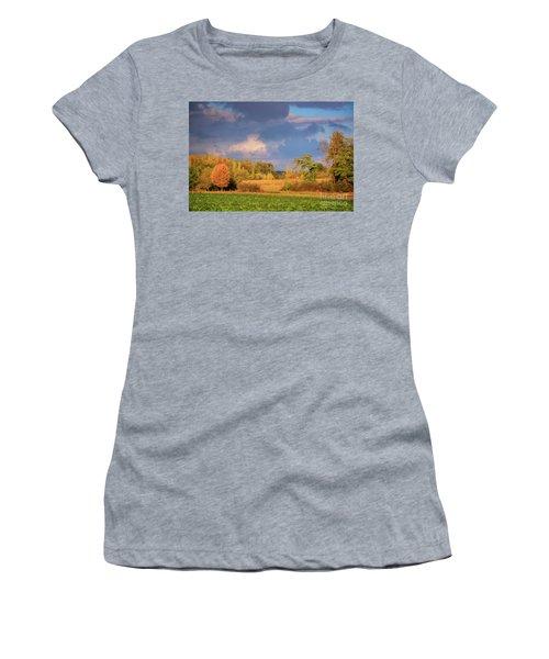 Autumn In Burgundy Women's T-Shirt