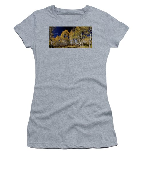 Women's T-Shirt (Athletic Fit) featuring the photograph Autumn Walk In The Woods by James BO Insogna