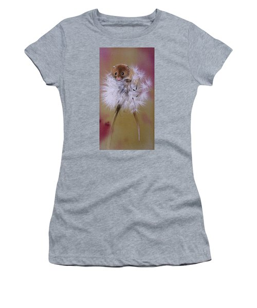 Baby Mouse On Dandelion Women's T-Shirt