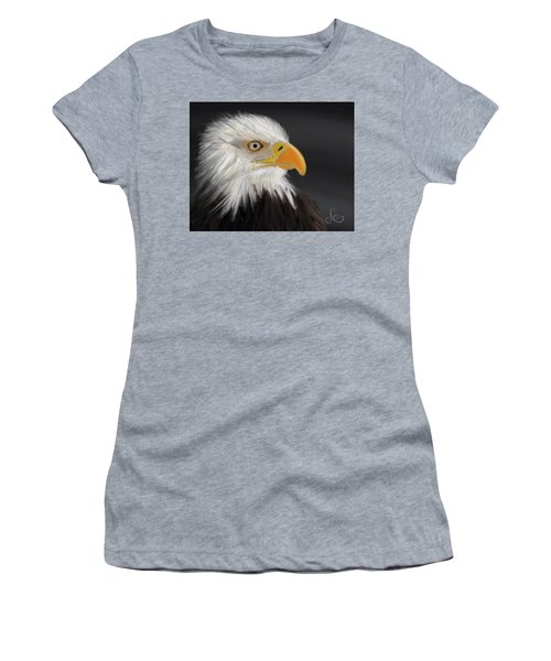Women's T-Shirt featuring the pastel Bald Eagle by Fe Jones