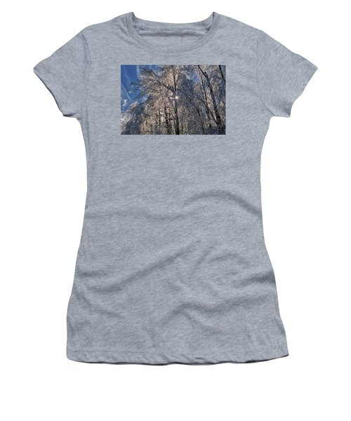 Bass Lake Trees Frozen Women's T-Shirt