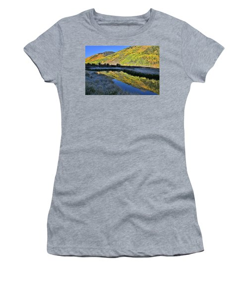 Beautiful Mirror Image On Crystal Lake Women's T-Shirt