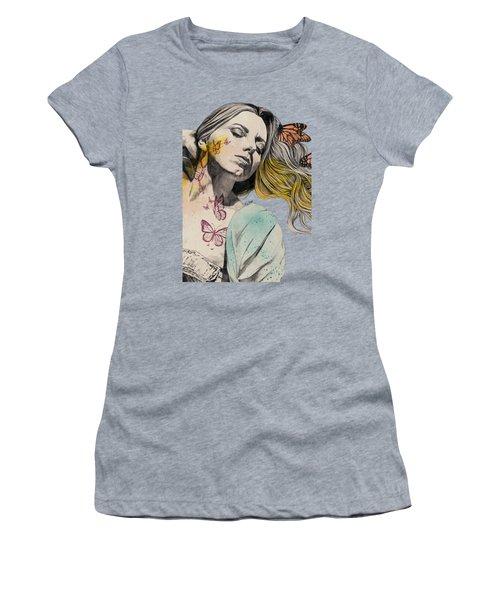 Beautiful Ruin - Sexy Butterfly Girl In Lingerie Women's T-Shirt