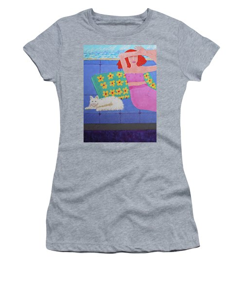 A Woman And Ralph Her Cat Women's T-Shirt