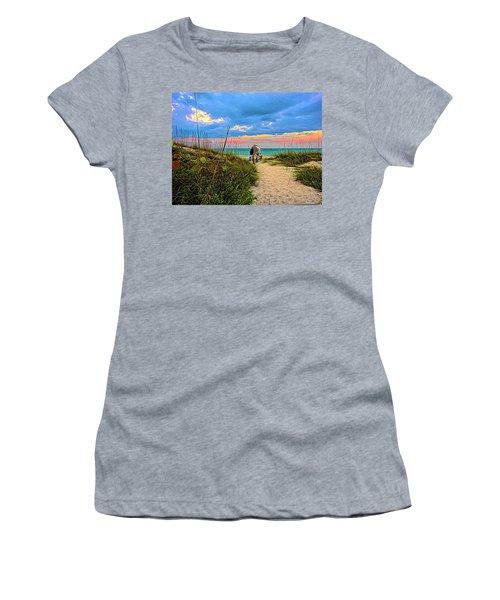Beginning Of A Fishing Story Women's T-Shirt