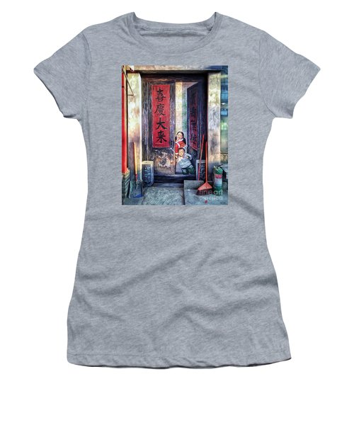 Beijing Hutong Wall Art Women's T-Shirt