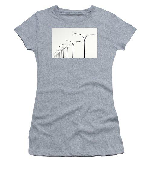 Birds Watch Over Queensway Bridge Women's T-Shirt